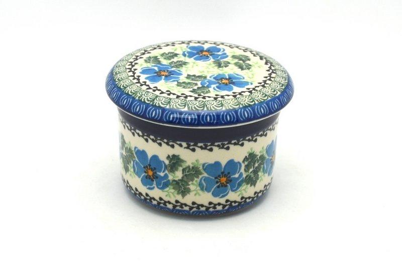 Ceramika Artystyczna Polish Pottery Butter Keeper - Morning Glory 270-1915a (Ceramika Artystyczna)
