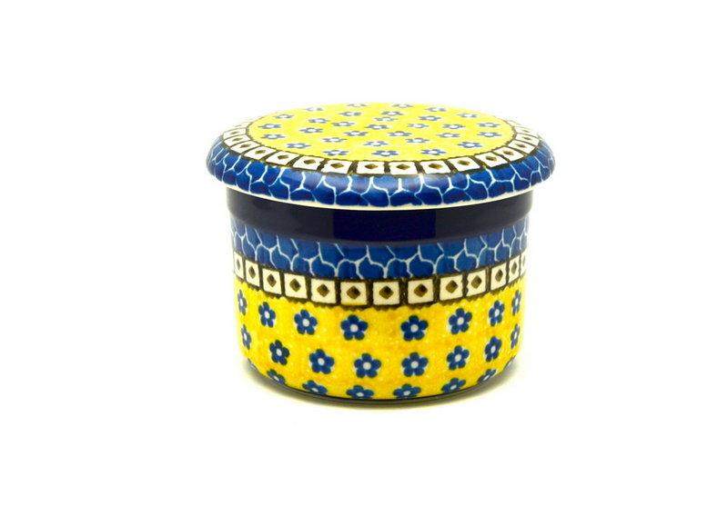 Ceramika Artystyczna Polish Pottery Butter Keeper - Sunburst 270-859a (Ceramika Artystyczna)