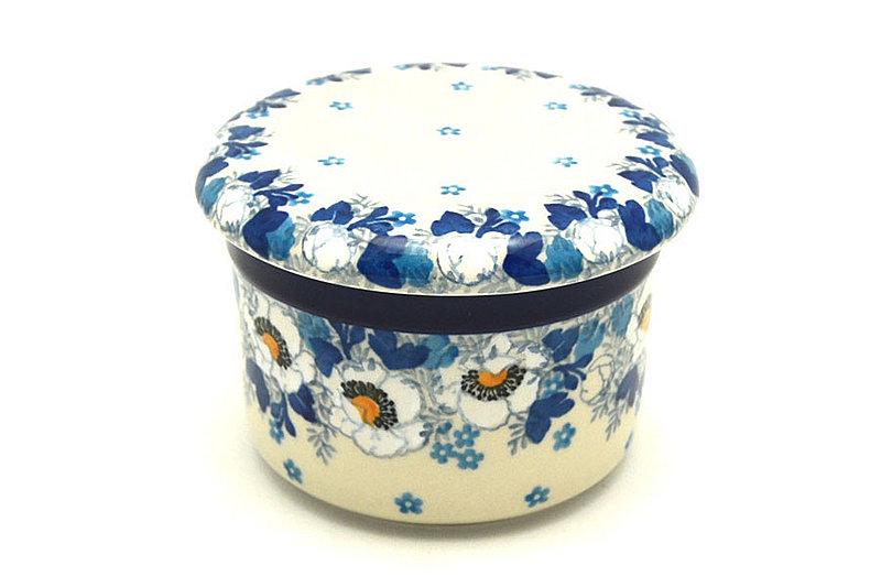 Ceramika Artystyczna Polish Pottery Butter Keeper - White Poppy 270-2222a (Ceramika Artystyczna)