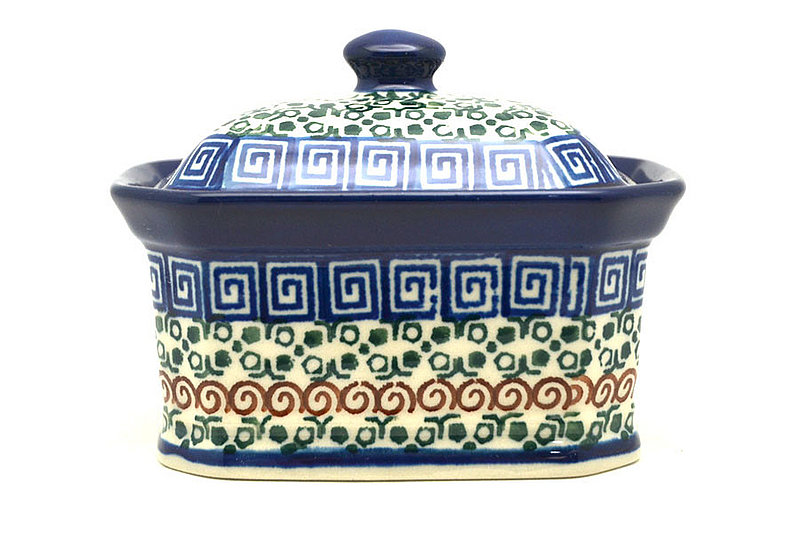Ceramika Artystyczna Polish Pottery Cake Box - Small - Autumn 385-050a (Ceramika Artystyczna)