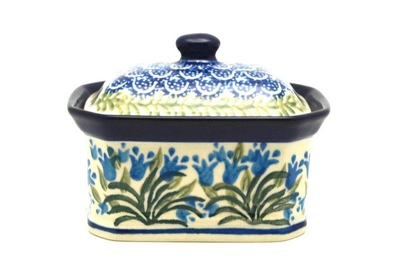 Polish Pottery Cake Box - Small - Blue Bells