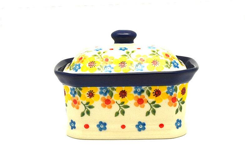 Ceramika Artystyczna Polish Pottery Cake Box - Small - Buttercup 385-2225a (Ceramika Artystyczna)