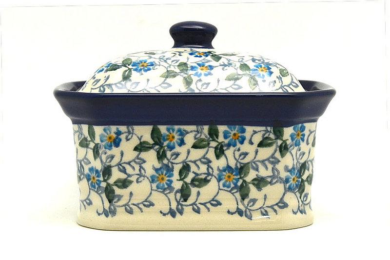 Ceramika Artystyczna Polish Pottery Cake Box - Small - Forget-Me-Knot 385-2089a (Ceramika Artystyczna)