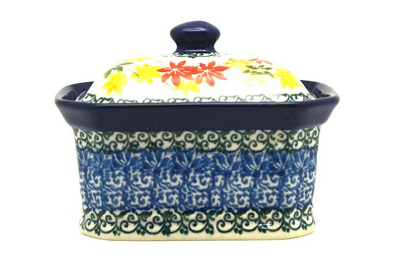 Ceramika Artystyczna Polish Pottery Cake Box - Small - Maple Harvest 385-2533a (Ceramika Artystyczna)
