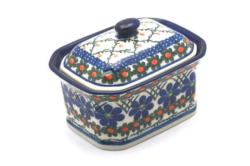 Ceramika Artystyczna Polish Pottery Cake Box - Small - Primrose 385-854a (Ceramika Artystyczna)