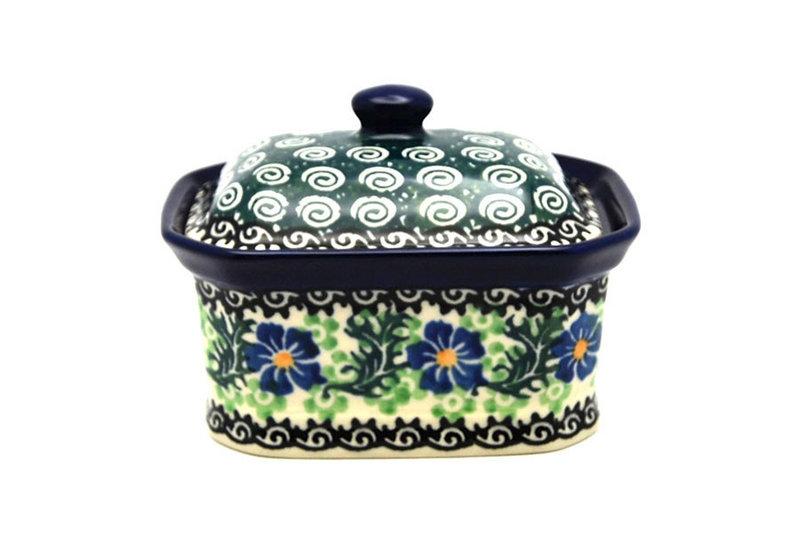 Ceramika Artystyczna Polish Pottery Cake Box - Small - Sweet Violet 385-1538a (Ceramika Artystyczna)
