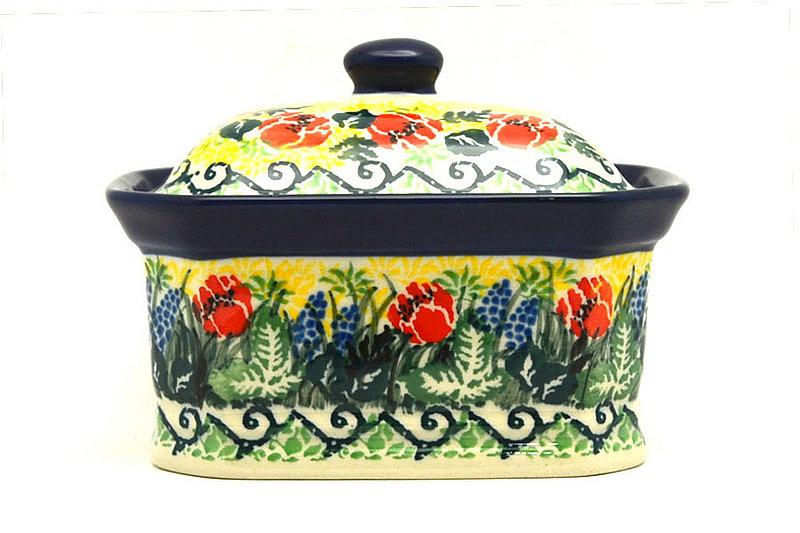 Ceramika Artystyczna Polish Pottery Cake Box - Small - Unikat Signature - U4610 385-U4610 (Ceramika Artystyczna)