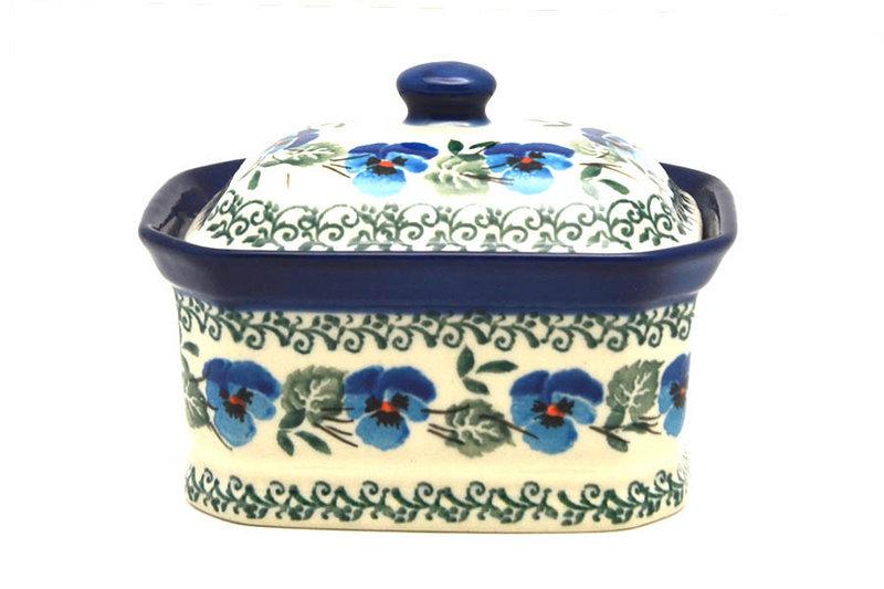 Ceramika Artystyczna Polish Pottery Cake Box - Small - Winter Viola 385-2273a (Ceramika Artystyczna)