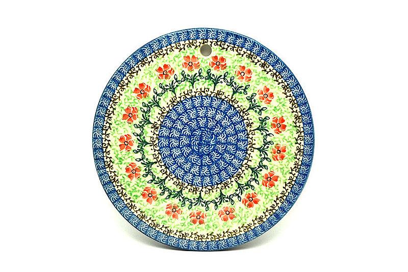 """Ceramika Artystyczna Polish Pottery Cheese Board - 7 1/4"""" - Maraschino 413-1916a (Ceramika Artystyczna)"""