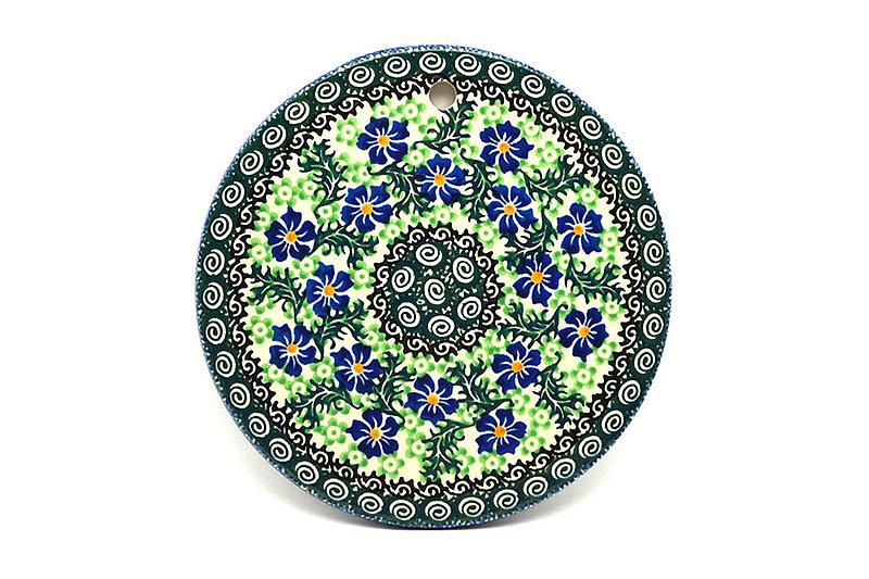 """Ceramika Artystyczna Polish Pottery Cheese Board - 7 1/4"""" - Sweet Violet 413-1538a (Ceramika Artystyczna)"""