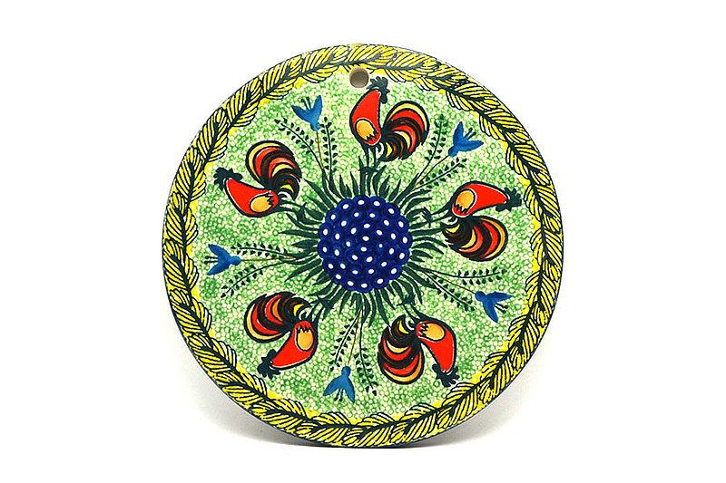 """Ceramika Artystyczna Polish Pottery Cheese Board - 8 1/2"""" - Unikat Signature - U2663 414-U2663 (Ceramika Artystyczna)"""