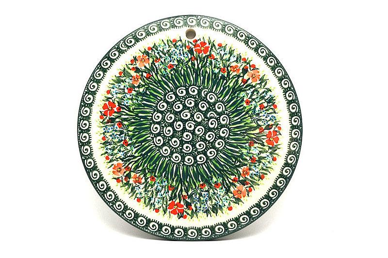 """Ceramika Artystyczna Polish Pottery Cheese Board - 8 1/2"""" - Unikat Signature - U4336 414-U4336 (Ceramika Artystyczna)"""