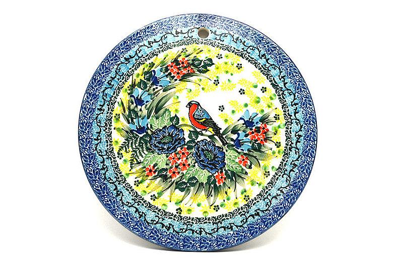 """Ceramika Artystyczna Polish Pottery Cheese Board - 8 1/2"""" - Unikat Signature - U4512 414-U4512 (Ceramika Artystyczna)"""