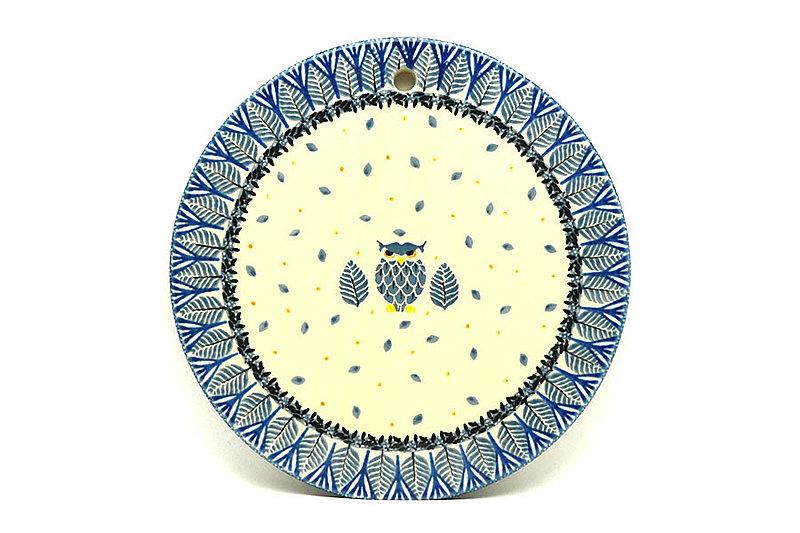 """Ceramika Artystyczna Polish Pottery Cheese Board - 8 1/2"""" - Unikat Signature - U4873 414-U4873 (Ceramika Artystyczna)"""