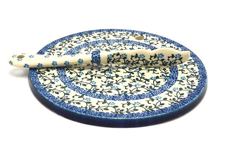 Ceramika Artystyczna Polish Pottery Cheese Board & Spreader Set - Terrace Vines S56-1822a (Ceramika Artystyczna)