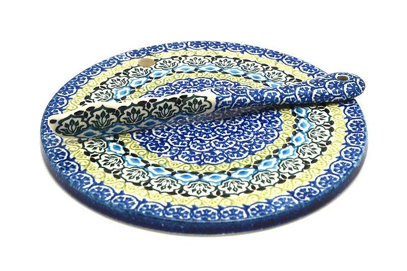 Ceramika Artystyczna Polish Pottery Cheese Board & Spreader Set - Tranquility S56-1858a (Ceramika Artystyczna)
