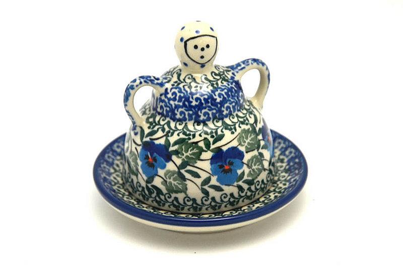 Ceramika Artystyczna Polish Pottery Cheese Lady - Miniature - Winter Viola 112-2273a (Ceramika Artystyczna)