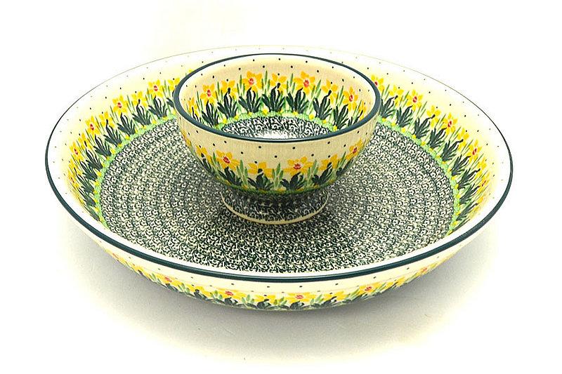 Ceramika Artystyczna Polish Pottery Chip & Dip Set - Daffodil S11-2122q (Ceramika Artystyczna)