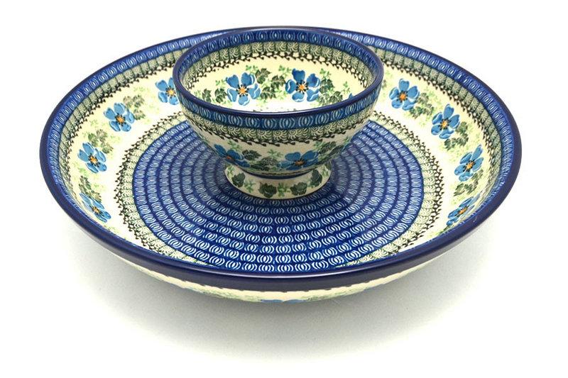 Ceramika Artystyczna Polish Pottery Chip & Dip Set - Morning Glory S11-1915a (Ceramika Artystyczna)