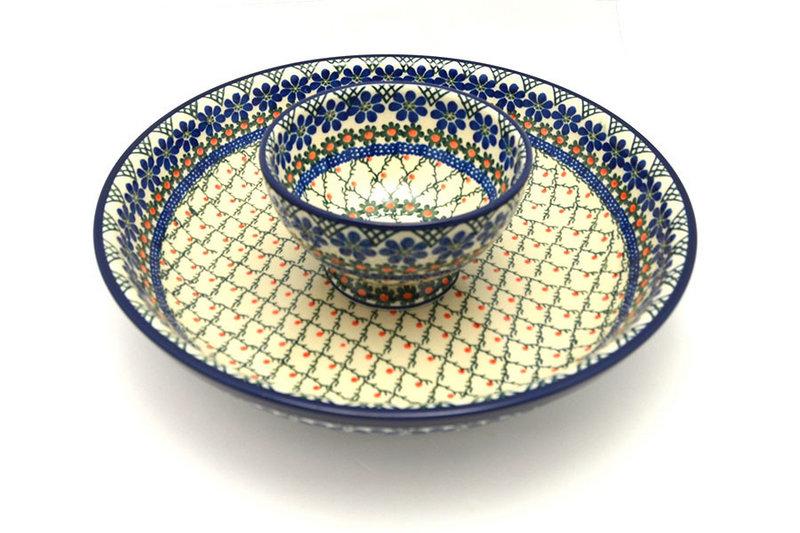 Ceramika Artystyczna Polish Pottery Chip & Dip Set - Primrose S11-854a (Ceramika Artystyczna)