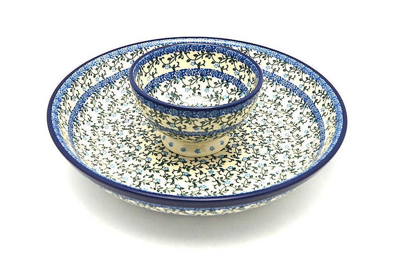 Ceramika Artystyczna Polish Pottery Chip & Dip Set - Terrace Vines S11-1822a (Ceramika Artystyczna)