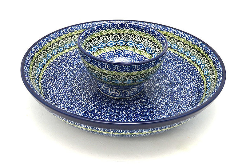 Ceramika Artystyczna Polish Pottery Chip & Dip Set - Tranquility S11-1858a (Ceramika Artystyczna)