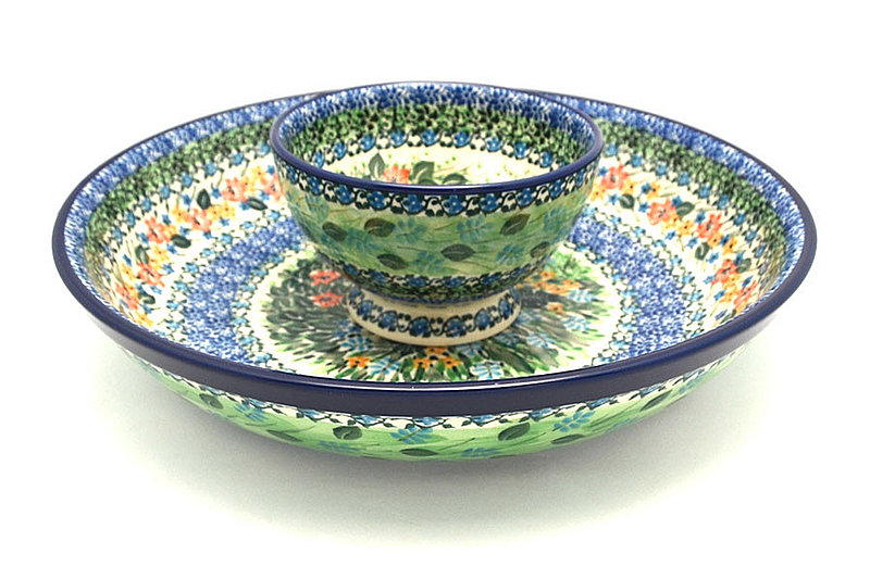 Ceramika Artystyczna Polish Pottery Chip & Dip Set - Unikat Signature - U3271 S11-U3271 (Ceramika Artystyczna)