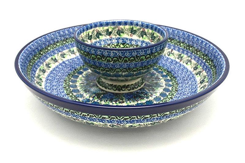 Ceramika Artystyczna Polish Pottery Chip & Dip Set - Unikat Signature - U4520 S11-U4520 (Ceramika Artystyczna)
