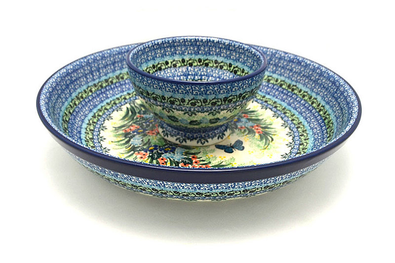 Ceramika Artystyczna Polish Pottery Chip & Dip Set - Unikat Signature - U4553 S11-U4553 (Ceramika Artystyczna)