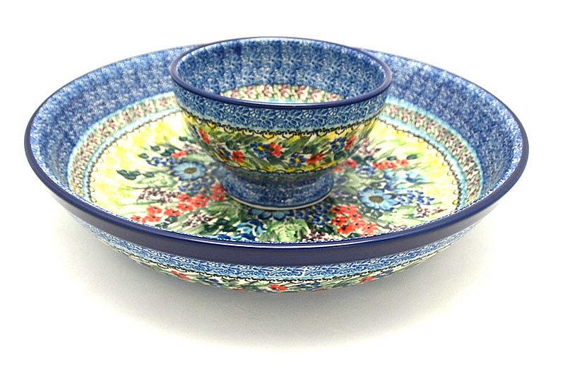 Ceramika Artystyczna Polish Pottery Chip & Dip Set - Unikat Signature - U4558 S11-U4558 (Ceramika Artystyczna)