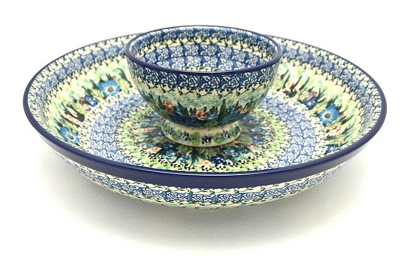 Ceramika Artystyczna Polish Pottery Chip & Dip Set - Unikat Signature - U4572 S11-U4572 (Ceramika Artystyczna)