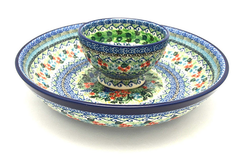 Ceramika Artystyczna Polish Pottery Chip & Dip Set - Unikat Signature - U4600 S11-U4600 (Ceramika Artystyczna)