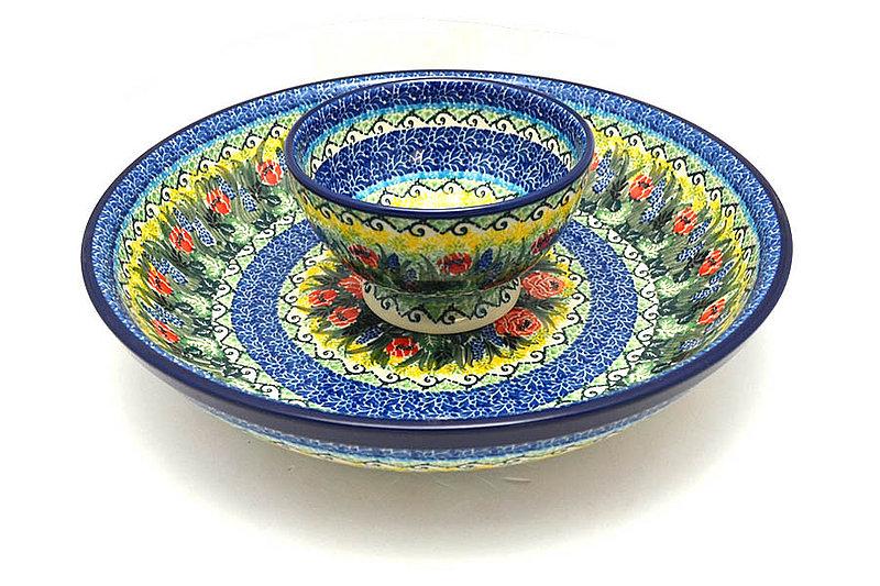 Ceramika Artystyczna Polish Pottery Chip & Dip Set - Unikat Signature - U4610 S11-U4610 (Ceramika Artystyczna)