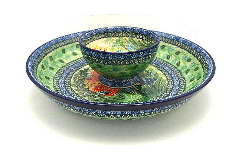 Ceramika Artystyczna Polish Pottery Chip & Dip Set - Unikat Signature - U4612 S11-U4612 (Ceramika Artystyczna)