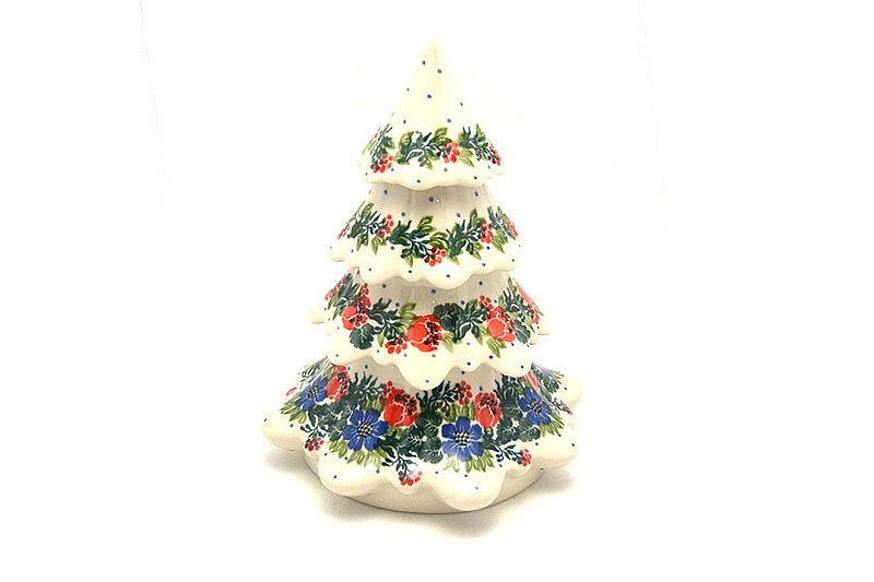 "Ceramika Artystyczna Polish Pottery Christmas Tree - Large (7 1/2"") - Garden Party A67-1535a (Ceramika Artystyczna)"