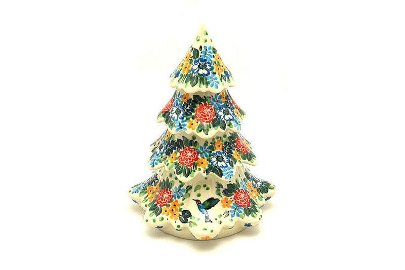 "Ceramika Artystyczna Polish Pottery Christmas Tree - Large (7 1/2"") - Unikat Signature - U3271 A67-U3271 (Ceramika Artystyczna)"