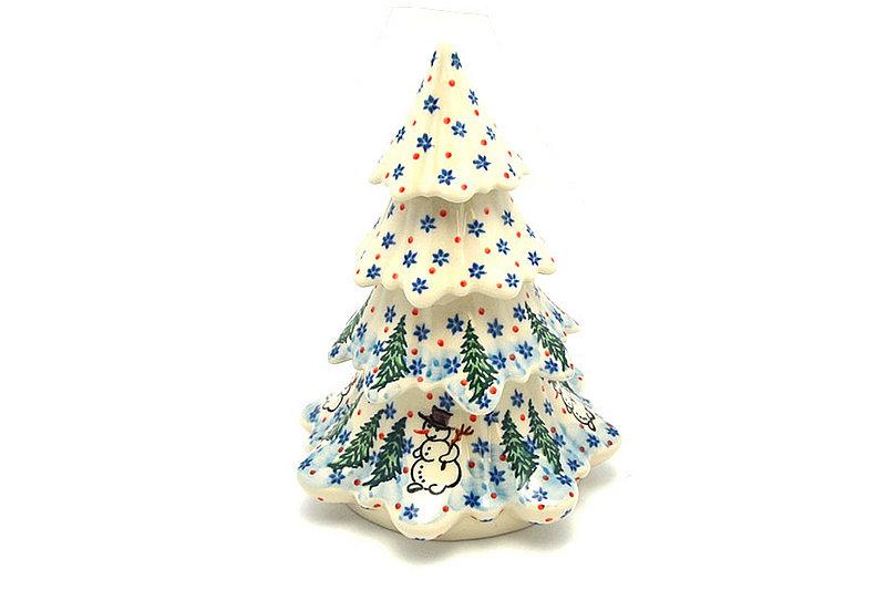 "Polish Pottery Christmas Tree - Large (7 1/2"") - Unikat Signature - U4661"