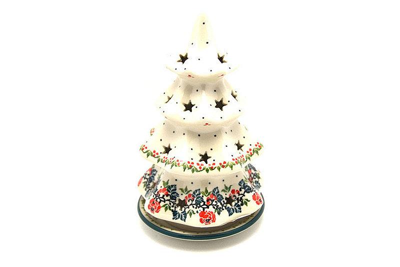 "Ceramika Artystyczna Polish Pottery Christmas Tree Luminarz - Large (8"") - Christmas Pageant 602-1970q (Ceramika Artystyczna)"