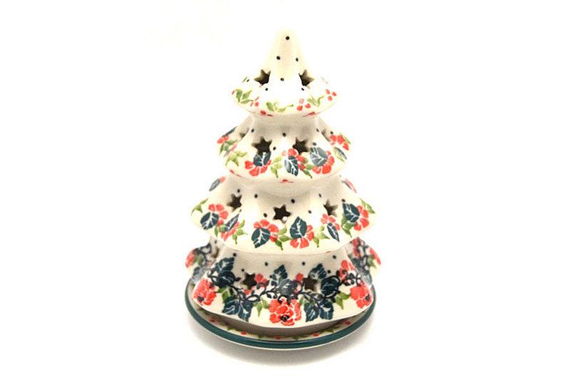 "Ceramika Artystyczna Polish Pottery Christmas Tree Luminarz - Small (6"") - Christmas Pageant 512-1970q (Ceramika Artystyczna)"