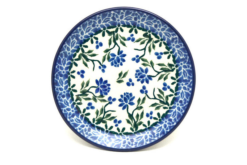 Ceramika Artystyczna Polish Pottery Coaster - Blue Clover 262-1978a (Ceramika Artystyczna)