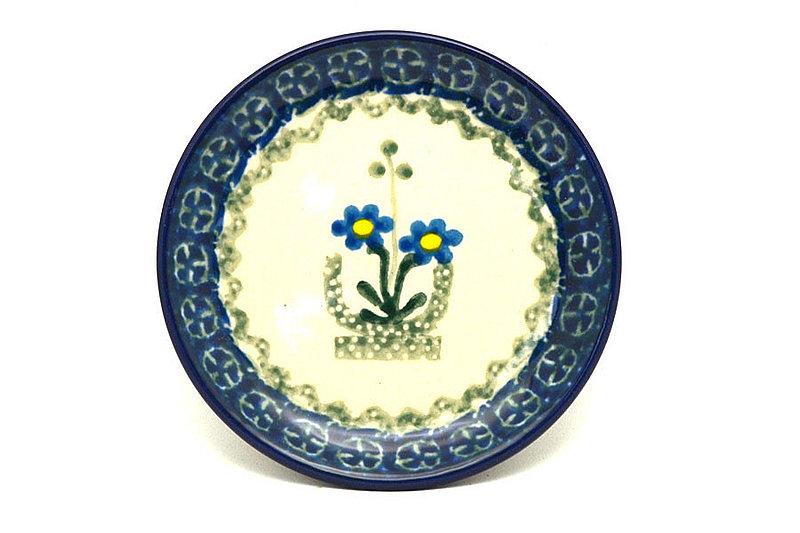 Ceramika Artystyczna Polish Pottery Coaster - Blue Spring Daisy 262-614a (Ceramika Artystyczna)