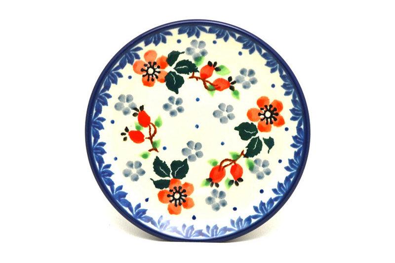 Ceramika Artystyczna Polish Pottery Coaster - Cherry Blossom 262-2103a (Ceramika Artystyczna)