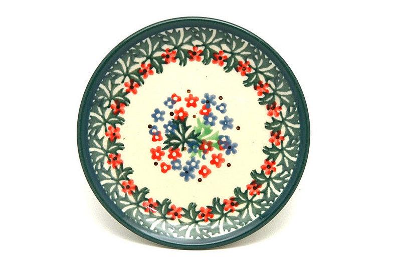 Ceramika Artystyczna Polish Pottery Coaster - Christmas Confetti 262-1091q (Ceramika Artystyczna)