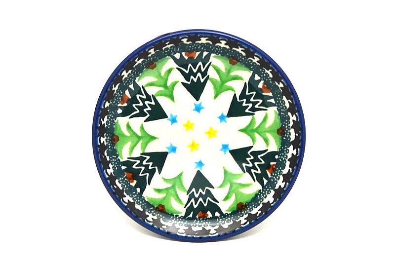 Ceramika Artystyczna Polish Pottery Coaster - Christmas Trees 262-1284a (Ceramika Artystyczna)