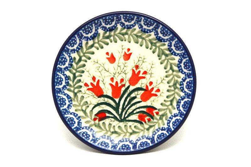 Ceramika Artystyczna Polish Pottery Coaster - Crimson Bells 262-1437a (Ceramika Artystyczna)