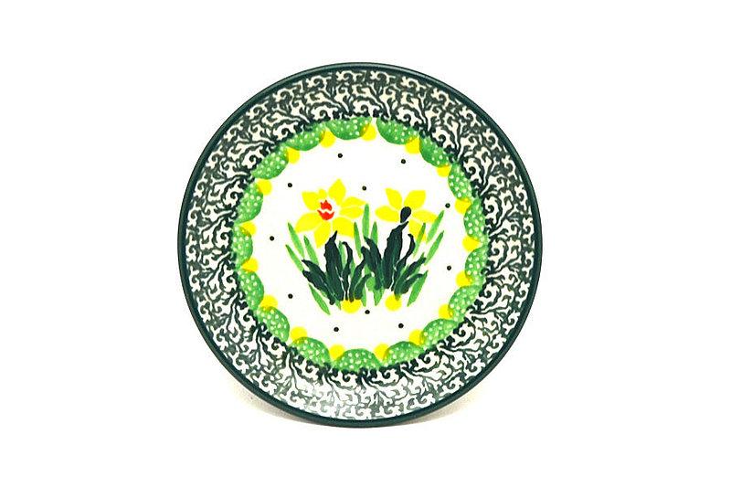 Ceramika Artystyczna Polish Pottery Coaster - Daffodil 262-2122q (Ceramika Artystyczna)