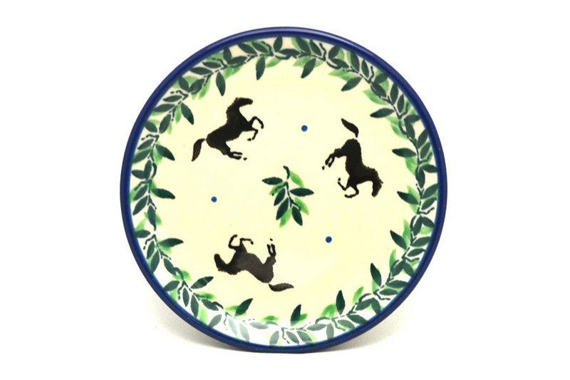 Ceramika Artystyczna Polish Pottery Coaster - Dark Horse 262-2241a (Ceramika Artystyczna)