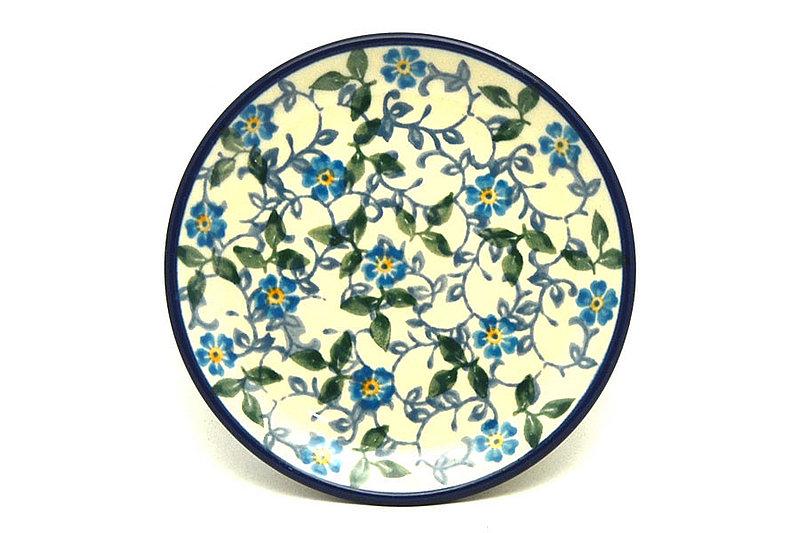 Ceramika Artystyczna Polish Pottery Coaster - Forget-Me-Knot 262-2089a (Ceramika Artystyczna)