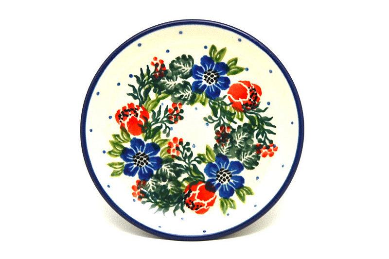 Ceramika Artystyczna Polish Pottery Coaster - Garden Party 262-1535a (Ceramika Artystyczna)