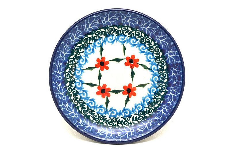 Ceramika Artystyczna Polish Pottery Coaster - Garden Trellis 262-1494a (Ceramika Artystyczna)